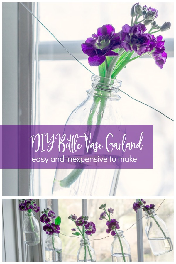 DIY bottle vase garland