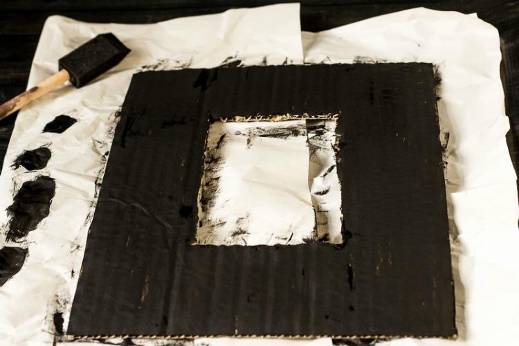 Painted cardboard frame
