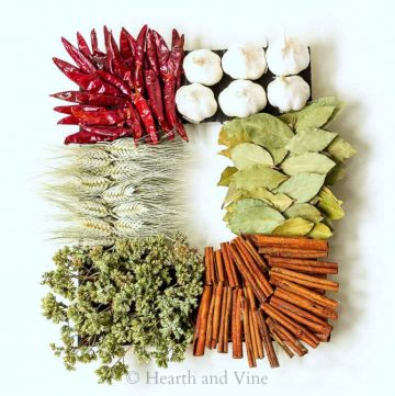 Kitchen spice wreath