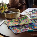 3 coloring bags on table ~ adult coloring bags ~ gardenmatter.com