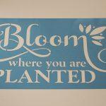 Garden Quote Stencil ~ Stencil Pattern Challenge ~ gardenmatter.com