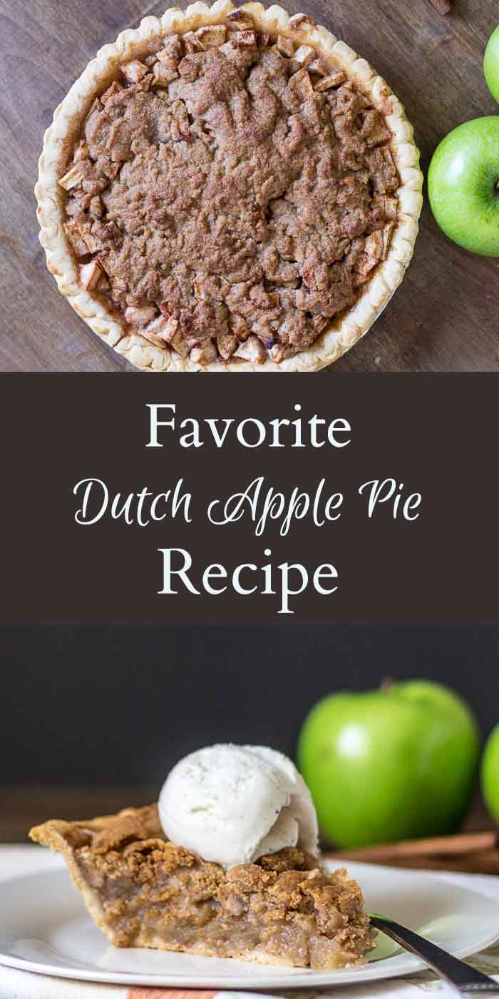 Here's tasty, tart and sweet dutch apple pie recipe that is a family favorite. Serve with a scoop of vanilla ice cream for a delicious dessert.