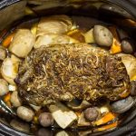 This slow cooker pot roast recipe is hearty with root vegetables to make a complete meal. AKA Busy Day Pot Roast. ~ gardenmatter.com