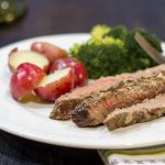 Blue Cheese Marinated Flank Steak ~ Marinated Flank Steak ~ gardenmatter.com