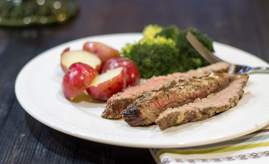 Blue Cheese Marinated Flank Steak ~ Marinated Flank Steak ~ gardenmatter.com