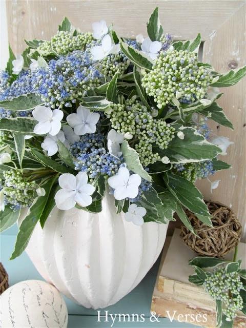 Blue Lacecap Hydrangea-Arrangement