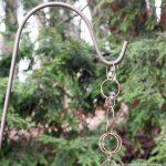 Chain on Shepherd's Hook ~ Make Your Own Rain Chain ~ gardenmatter.com