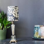 Finished lamp ~ DIY Fabric Lampshade Makeover ~ gardenmatter.com