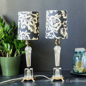 Finished lamps ~ DIY Fabric Lampshade Makeover ~ gardenmatter.com