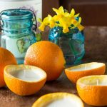 Homemade Orange peel Candles DIY ~ gardenmatter.com