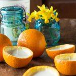 Homemade Orange peel Candles DIY ~ gardenmatter.com