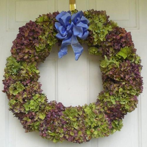 Hydrangea Wreath Gardening Cook ~ decorating with hydrangeas
