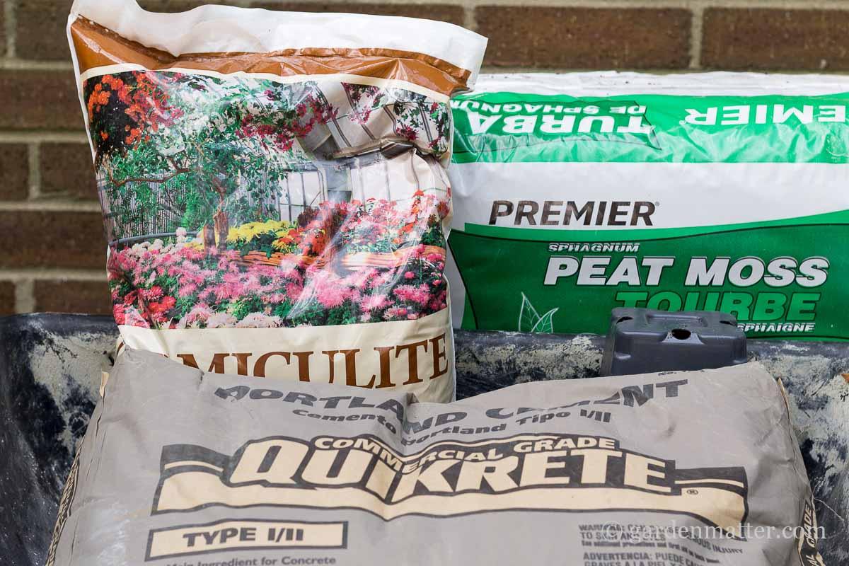 Hypertufa Materials ~ Freeform Hypertufa Planters ~ gardenmatter.com