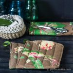 Natural Print Bird Potholder ~ How to Make Potholders ~ gardenmatter.com