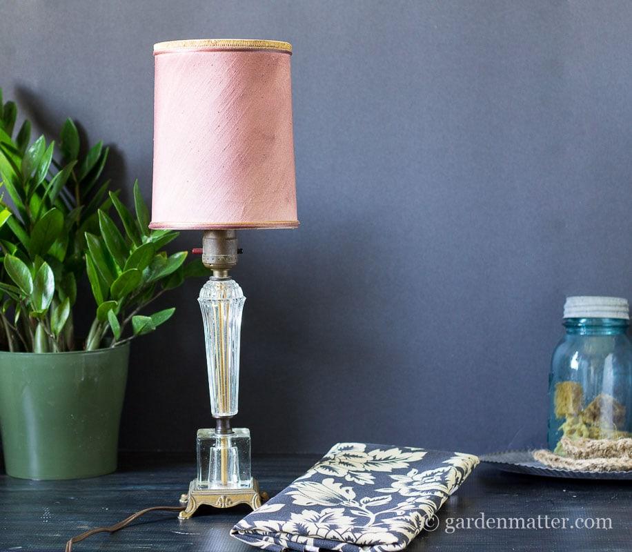 Original Lamp ~ DIY Fabric Lampshade Makeover ~ gardenmatter.com