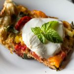 Pizza slice with basil ~ Grilled Pizza ~ gardenmatter.com