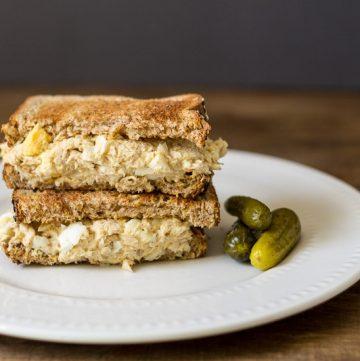 Tuna & Egg Salad Sandwich ~ Tuna Salad Recipe ~ gardenmatter.com