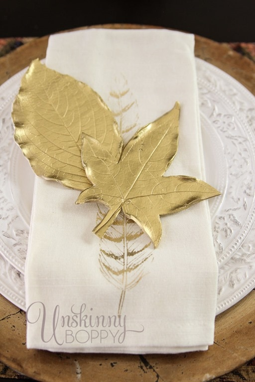 gold-leaf-placesetting