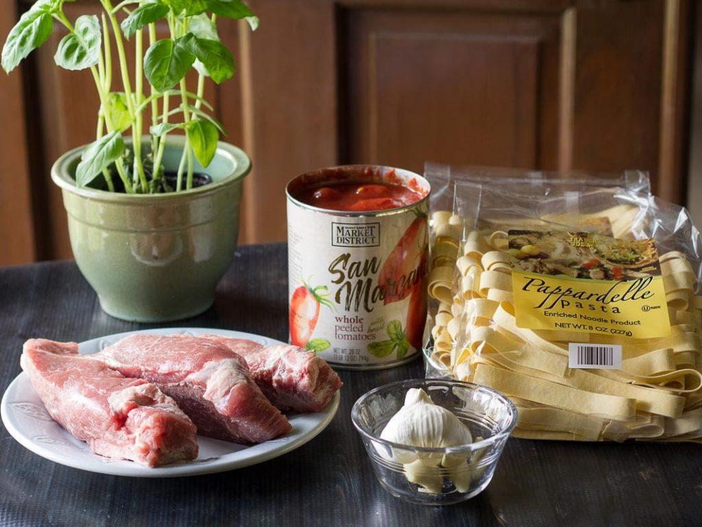 Ingredients ~ Pork Ragu Recipe ~ gardenmatter.com