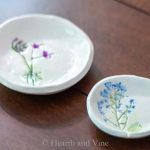 Pressed fjower jewelry dishes