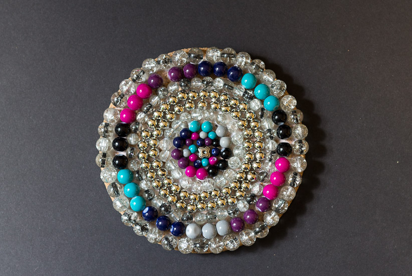 All beads ~ Beaded Coaster ~ gardenmatter.com