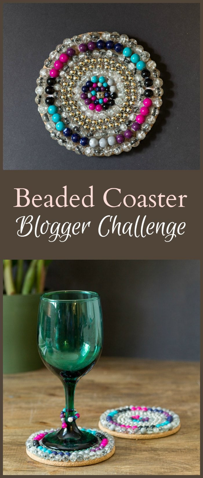 Learn how to make this easy bead project which was part of a group blogger challenge. Beaded coasters for the patio would make a great gift.