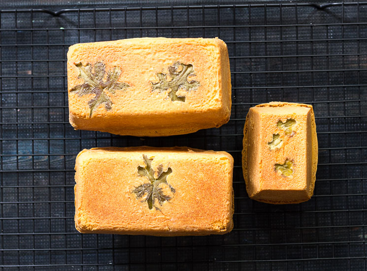Cakes out of the oven ~ scented geranium cake ~ gardenmatter.com