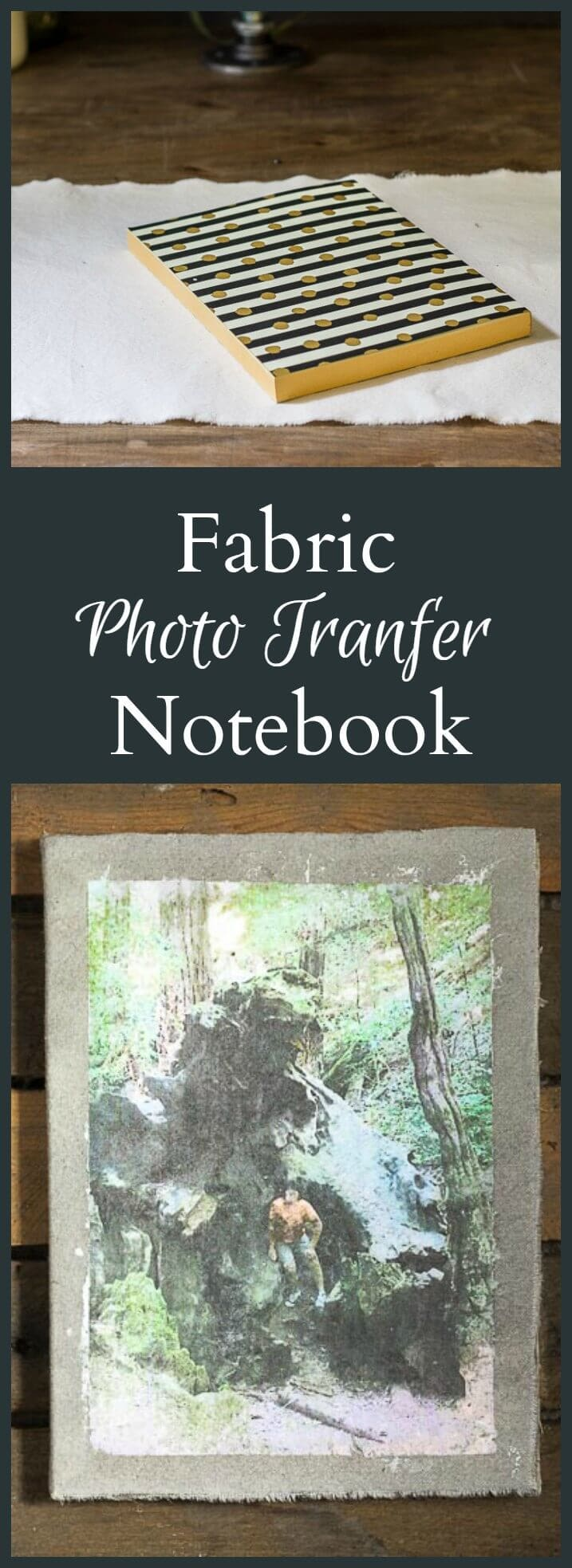 Learn how to make a customized fabric photo transfer notebook to give to someone special using their own personal images.