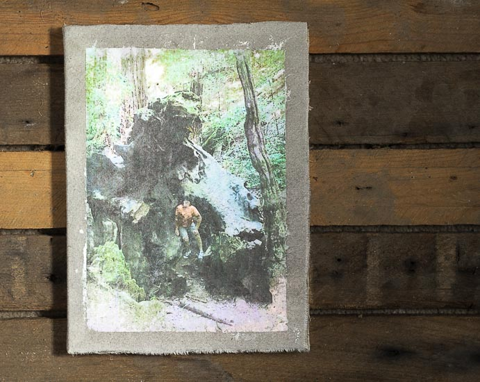Fabric-Photo-Transfer-Notebook Tutorial ~ gardenmatter.com