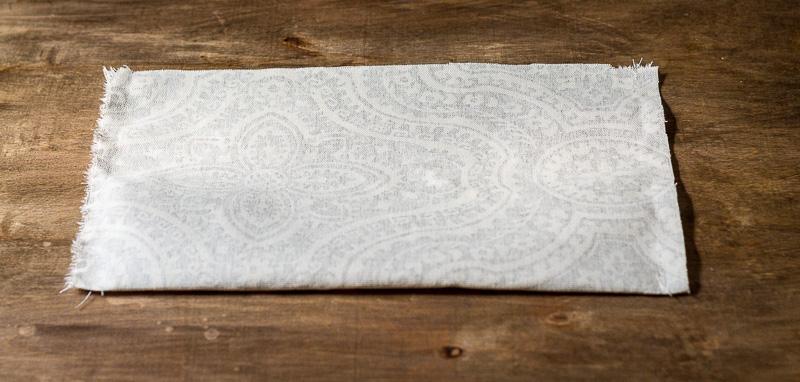 Folded fabric step ~ fabric caddy tutorial ~ gardenmatter.com