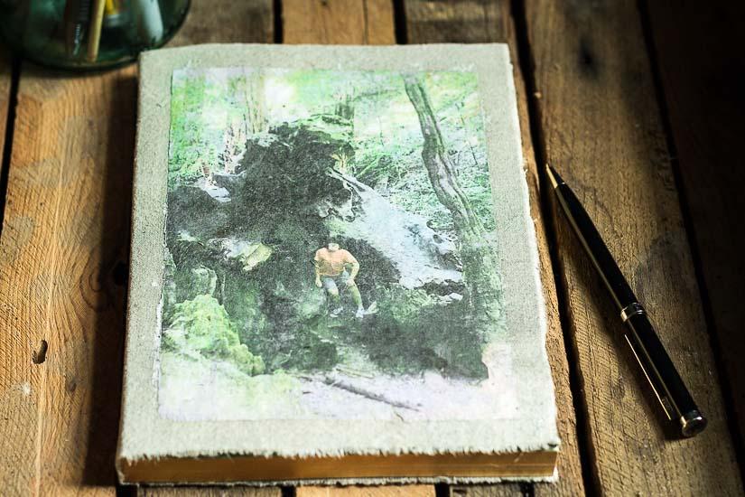 Front of Journal ~  Photo Transfer Fabric ~ gardenmatter.com