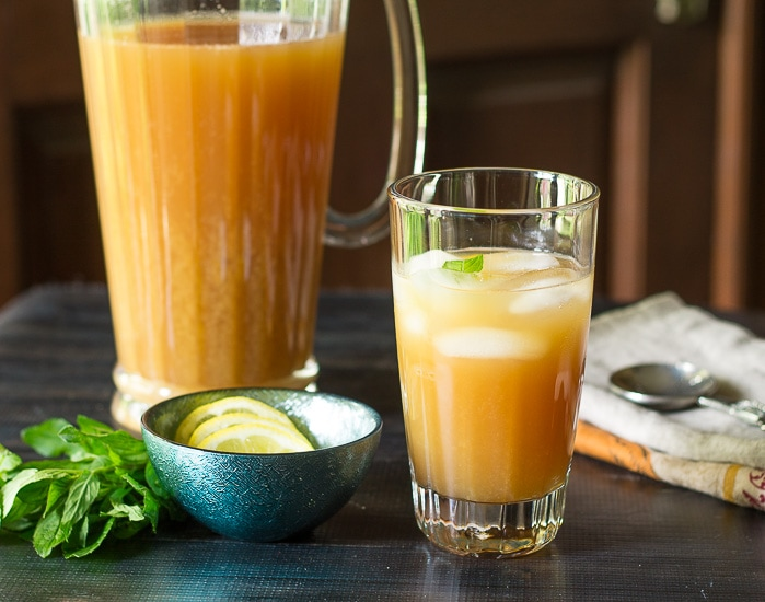 Glass of Fruit Tea ~ Fruit Tea ~ gardenmatter.com