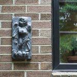 Hanging Cherub closeup ~ Lead Look ~ gardenmatter.com