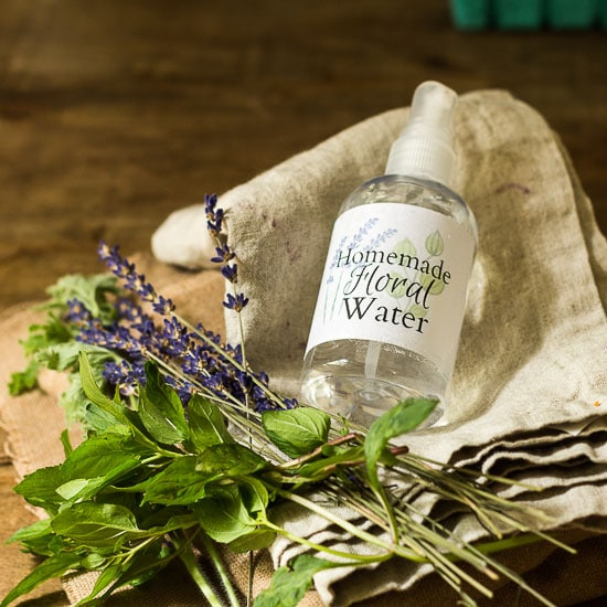 Herbal Water in Spray Bottle on linen ~ Herbal  Hydrosols ~ gardenmatter.com