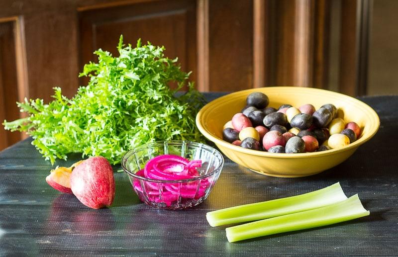 Ingredients ~ California Potato Salad ~ gardenmatter.com