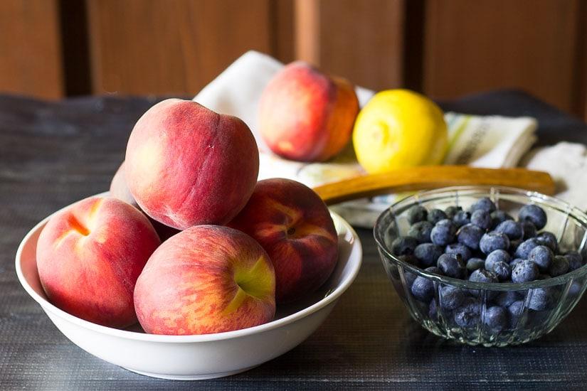 Ingredients ~ Peach & Blueberry Cobbler