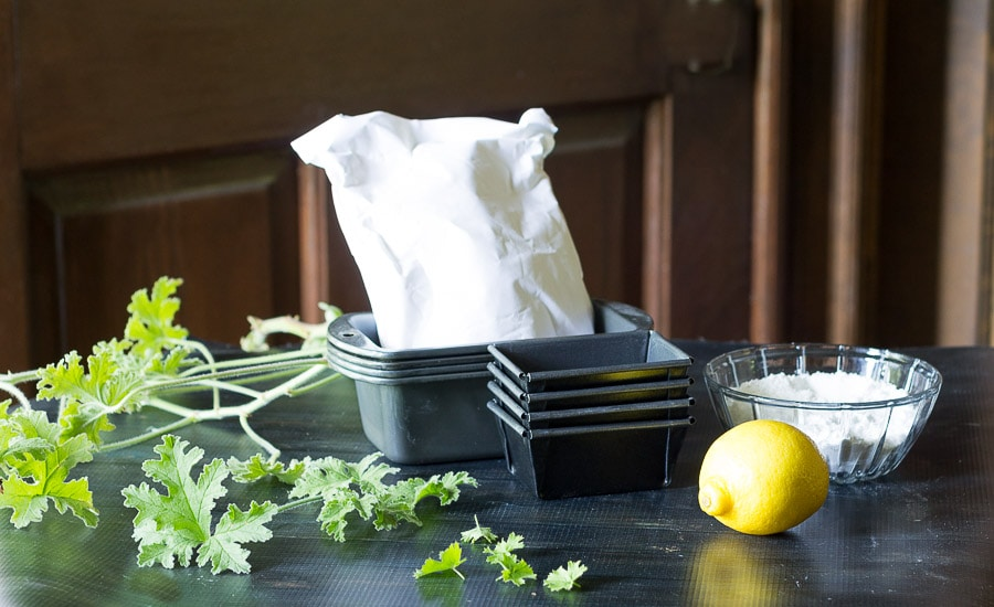 Ingredients ~ scented geranium cake ~ gardenmatter.com