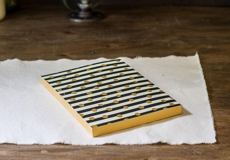 Journal and Dropcloth~ Fabric Photo Transfer Notebook DIY ~ gardenmatter.com