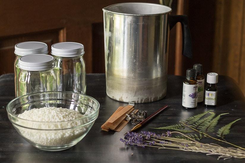Materials ~ Press Flower Mason Jar Candles ~ gardenmatter.com