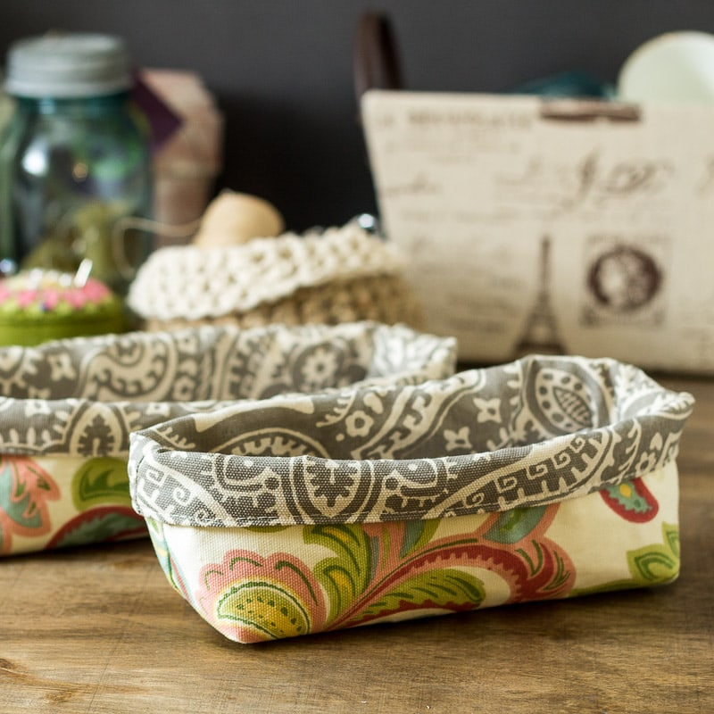 Modern Fabric containers ~ fabric caddy tutorial ~ gardenmatter.com