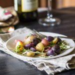 Plated Salad ~ California Potato Salad ~ gardenmatter.com