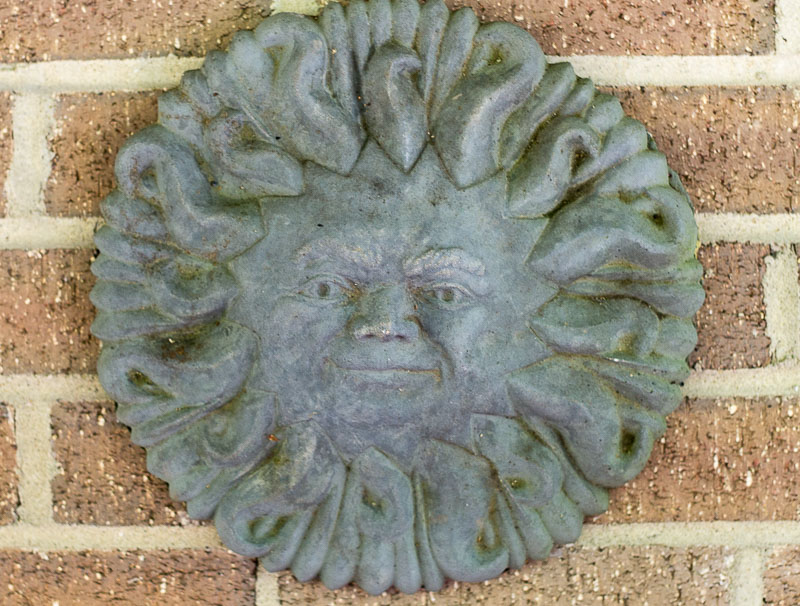 Sun Plaque ~ Lead Look ~ gardenmatter.com