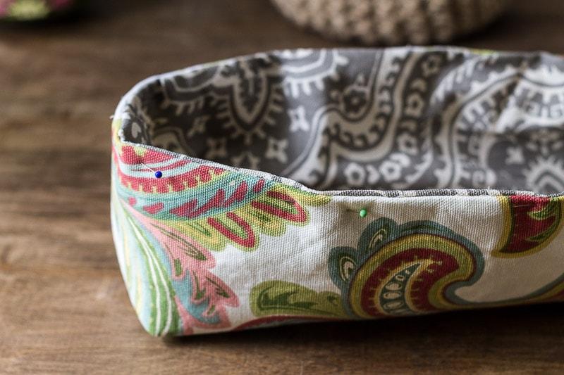 combined bins ~ fabric utensil holder ~ gardenmatter.com