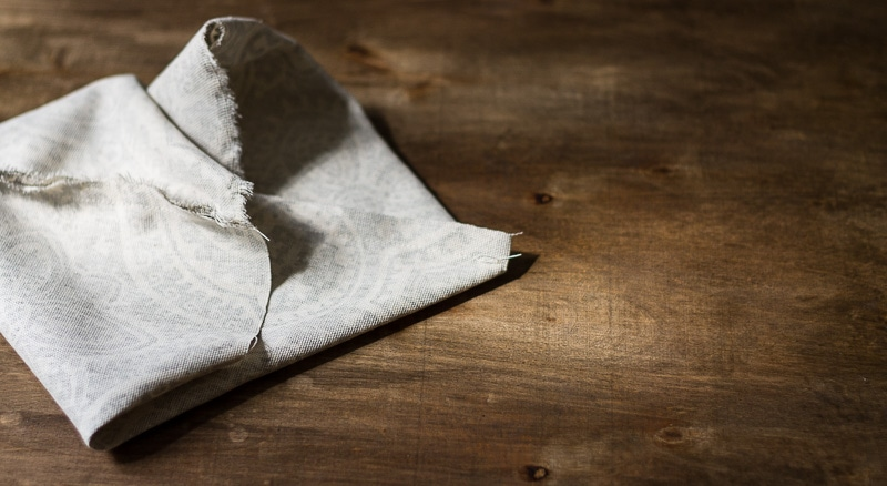 fold side seam to bottom ~ fabric caddy instructions ~ gardenmatter.com
