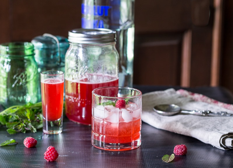 shrub cocktail wide~ raspberry shrub reicpe ~ gardenmatter.com