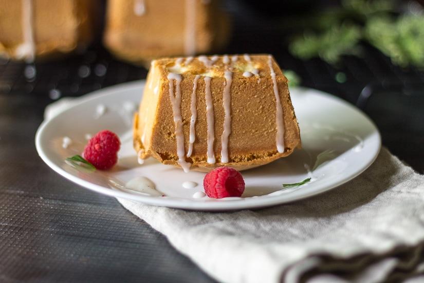 single cake ~ scented geranium cake ~ gardenmatter.com