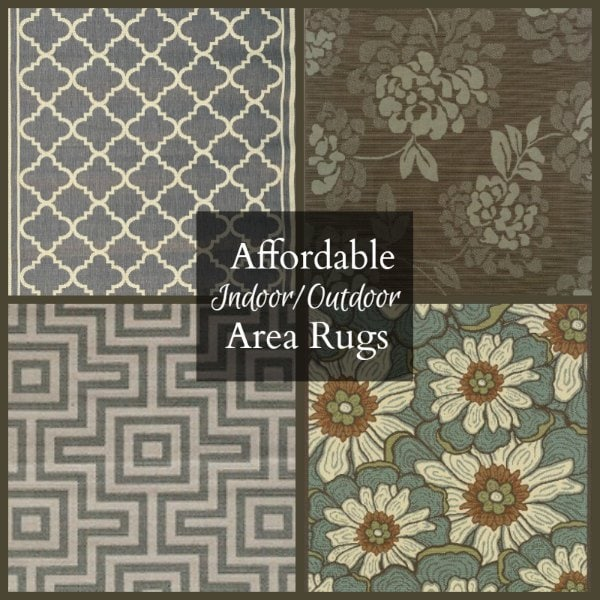Porch Floor Makeover and Affordable Area Rugs