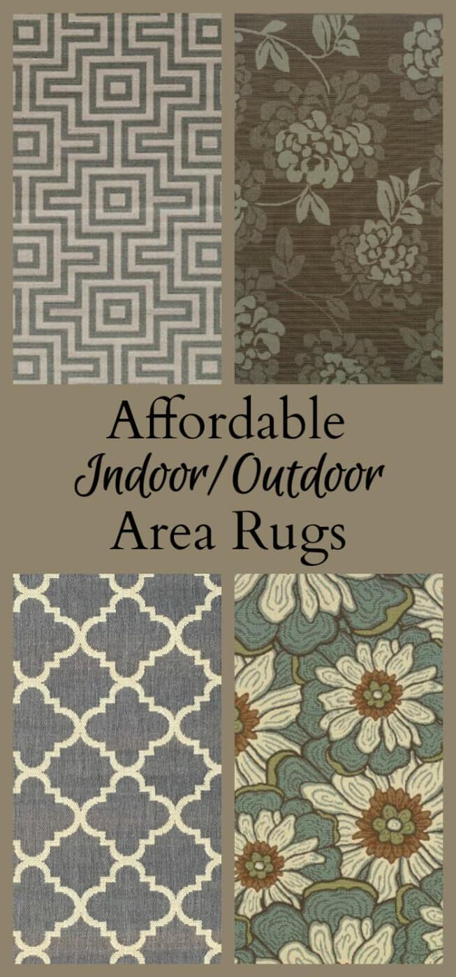 Remodeling a screened in porch floor and finding affordable area rugs choices online to fit the space and decor of the room.
