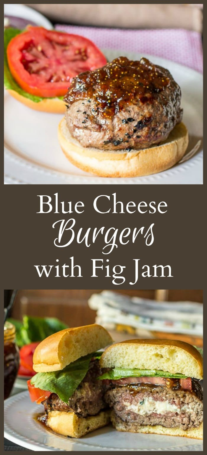 Blue Cheese Burger with Fig Jam collage