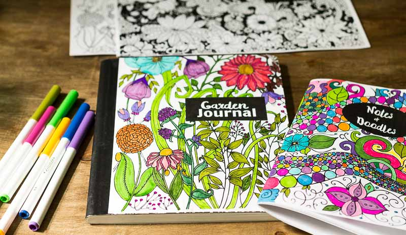 Make Your Own Coloring Page Journals